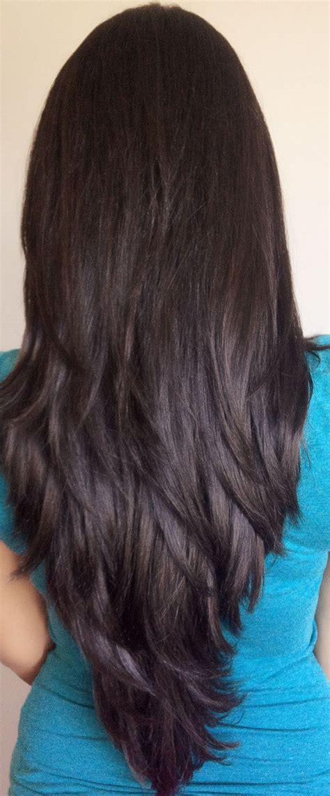 layered v cut my preferred cut haircuts