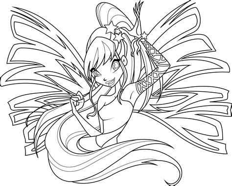Stella Sirenix Coloring Page By Icantunloveyou On Deviantart