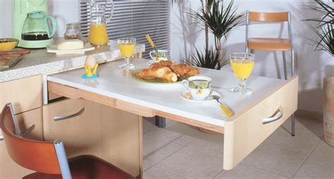 cuisine table escamotable beau model de cuisine equipee 4 table escamotable
