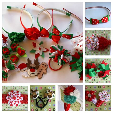 christmas hair accessories from alice and lilly handmade