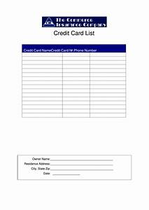 Cover Resume Letter Examples Credit Card List Template Printable Pdf Download