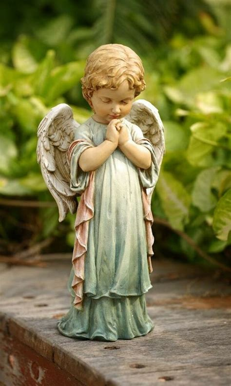 outdoor angel statues praying cherub pastel garden statue indoor outdoor decor ebay