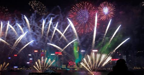 hong kong cancels  years eve fireworks show  protest fears time