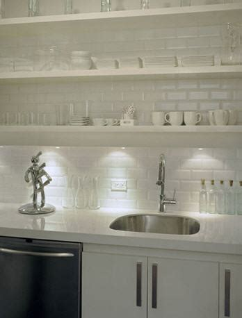 white beveled subway tile contemporary kitchen