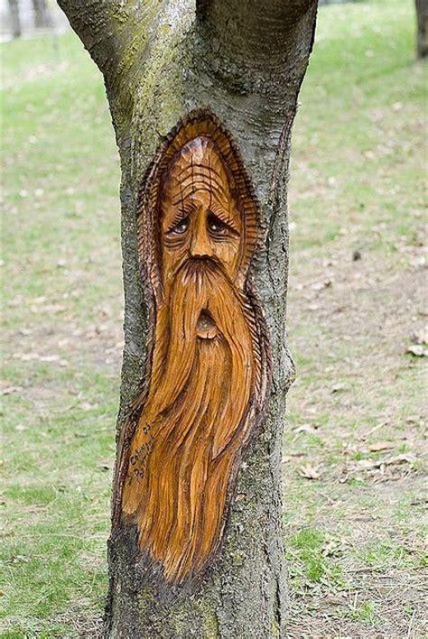 tree spirits images  pinterest tree carving
