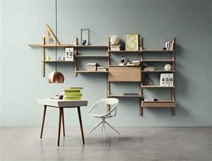 Modern Wall Mounted Shelves In Wall Mounted Shelf Desk