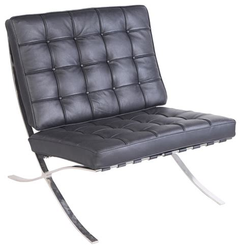 barcelona chair real leather indoor chaise lounge chairs by mlf usa