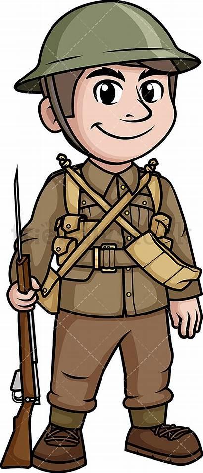 Soldier Ww2 British Clipart Cartoon Soldiers Army