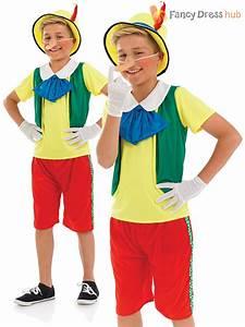 Boys Pinocchio Fancy Dress Costume Childs Fairytale Puppet ...