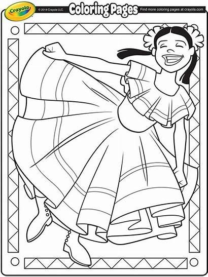 Coloring Mayo Cinco Crayola Pages Dancer Mexican