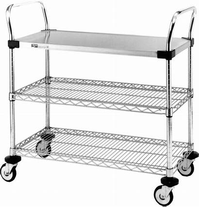 Cart Carts Stainless Wire Steel Utility Shelves
