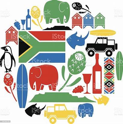Africa South Vector Icon Town Cape Montage