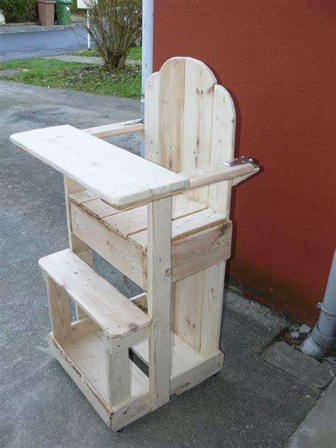 chaise longue en palette bois chaise haute en bois de palette chaise banc