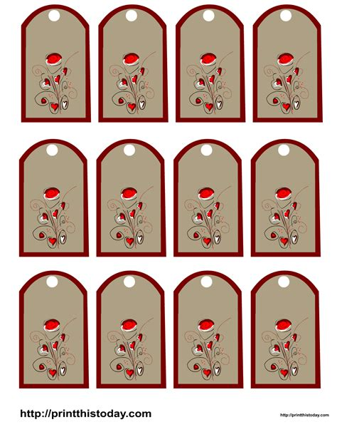 Valentine Favor Tags Gift