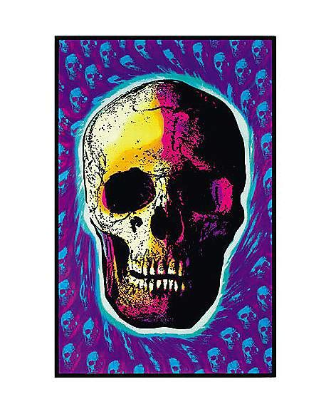 spencers black light posters skull black light poster spencer s