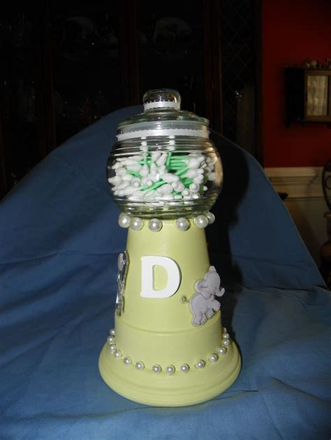 baby shower gift gumball machine made of clay pot and bowl she s crafty gumball