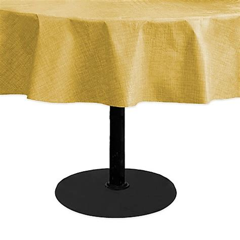 70 inch tablecloth buy monterey 70 inch round vinyl tablecloth in yellow from bed bath beyond