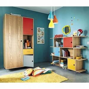 Dressing Maison Du Monde : biblioth que enfant multicolore et dressing happy tapis ~ Nature-et-papiers.com Idées de Décoration