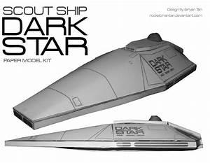 Dark Star Spaceship Paper Model by RocketmanTan on DeviantArt