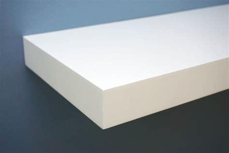 white floating shelf gloss white floating shelf 900x250x50mm mastershelf