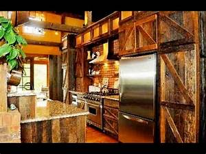Awesome Barn Door Kitchen Cabinets - YouTube