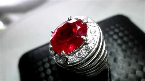 pigeon s ruby ring burma grade aaaaa 7 85 carats sold youtube