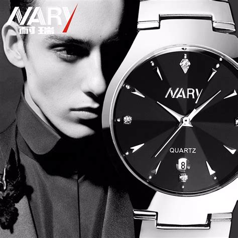 nary jam tangan analog stainless steel 6112 silver black jakartanotebook com