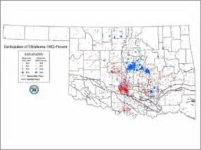 Oklahoma Earthquake Map