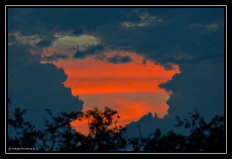 sunset      thunder clouds sunset