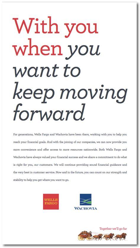 update wells fargo wachovia transition ads