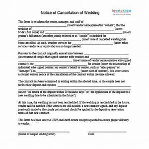 How to cancel a wedding lovetoknow for Wedding vendor contract template