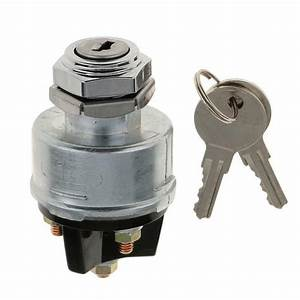 Silver Universal 3 Position Ignition Starter Key Switch