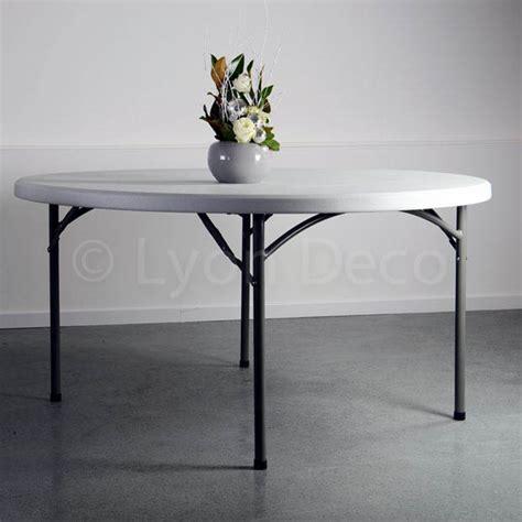 Location Table Ronde Dia 152cm En Polyéthylène Pour 8