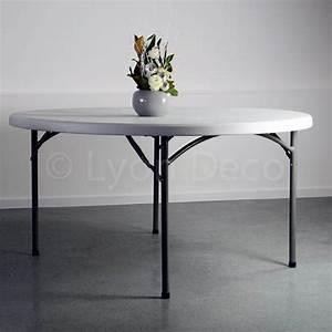 Table Ronde 10 Personnes : location table ronde dia 178cm en poly thyl ne pour 10 12 personnes ~ Teatrodelosmanantiales.com Idées de Décoration