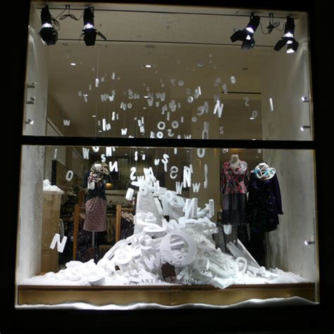 anthropologie snow window display heartfish blog