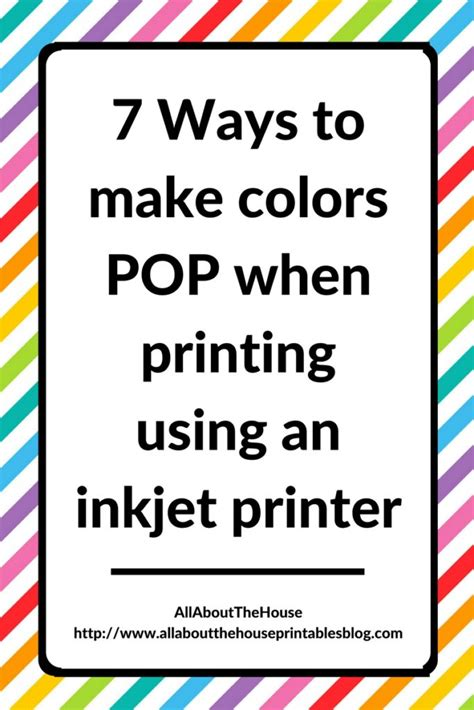 7 Ways To Make Colors Pop When Printing Using An Inkjet