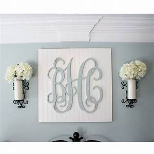 40 creative monogram wall art ideas With monogram letters over bed