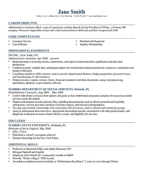 Exles Of Professional Resumes by Advanced Resume Templates Resume Genius