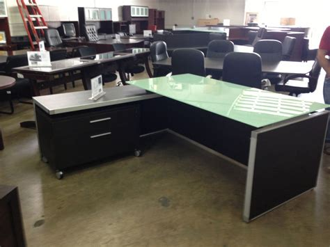 l shaped glass desk ikea glass top l shaped office desk with file cabinet on wheels