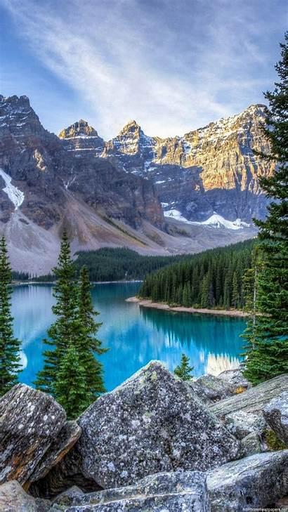 Landscape Vertical Mountain Wallpapers Iphone Lake Portrait
