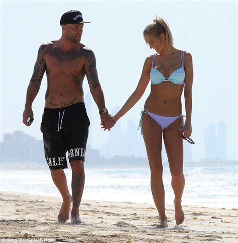 calum scott swimsuit calum best and girlfriend ianthe rose enjoy a beach break