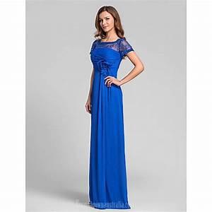 Long Floor-length Chiffon Bridesmaid Dress Royal Blue Plus ...