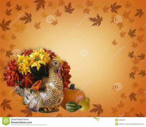thanksgiving fall autumn border stock illustration illustration  gourds postcard