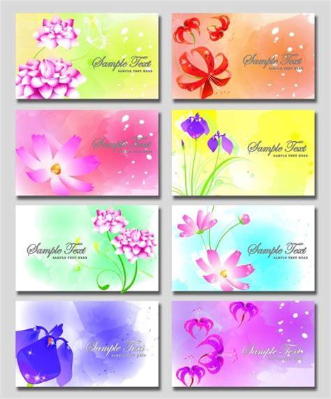 fantasy flower business card psd material