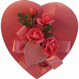 Vintage Pink Valentine Chocolate Heart Box - Russell ...