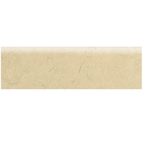 marissa crema marfil 3 in x 12 in ceramic bullnose floor