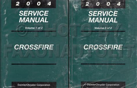 vehicle repair manual 2005 chrysler crossfire auto manual 2004 chrysler crossfire repair shop manual set original