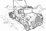 Monster Coloring Pages Truck Trucks Printable sketch template