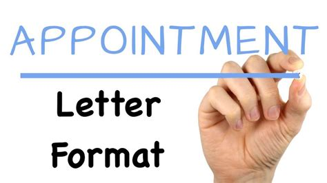 appointment letter format   formats