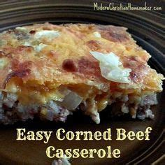 Drop the potatoes and carrots into the liquid surrounding the beef and lay the cabbage wedges on top. Corned Beef Casserole Recipe ~ A Simple Breakfast FAST ...